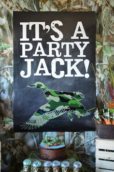 INSTANT DOWNLOAD - It's a Party Jack ... Duck Dynasty Inspired Backdrop - Duck Dynasty Party - Duck Commander. $12.00, via Etsy.