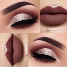 Love this combo ______ Eyes - @swetlanapetuhova Lips - @girlgreybeauty