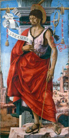 Saint John The Baptist / San Giovanni Battista / San Juan Bautista // 1472 -1473 // Francesco del Cossa // Pinacoteca di Brera // #Prophet #Profeta