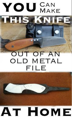 You Can Make a Knife