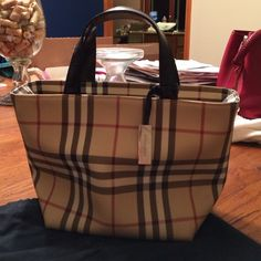 Authentic Burberry Handbag Beautiful Bag Is A Structured Small Tote