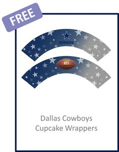 Dallas Cowboys Cupcake Wrappers - FREE PDF Download Cowboy Birthday Party, Birthday Boys, Cowboy Party, Thanks Game, Cowboy Cupcakes, Dallas Cowboys Party, Cowboy Baby Shower, How Bout Them Cowboys, Cupcake Wrappers
