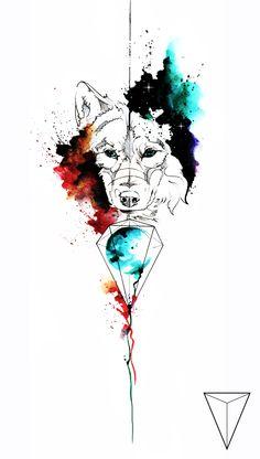 Wolf Tattoo Sleeve, Tattoo Sleeve Designs, Tattoo Drawings, Body Art Tattoos, Art Drawings, Wolf Tattoos, Lion Tattoo, Tattoo Illustration, Watercolor Illustration
