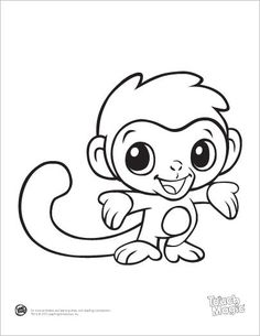 Cute (and free) Printablesfrom LeapFrog- Baby Animal Coloring Pages. They have some craft printable pages too if you back out a page