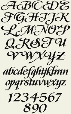 Tattoo Fonts Bold Style Super Ideas - Tattoo Fonts Bold Style Super Ideas Best Picture For cool tattoo For Your Tast - Calligraphy Fonts Alphabet, Tattoo Fonts Alphabet, Cursive Alphabet, Hand Lettering Alphabet, Graffiti Alphabet, Islamic Calligraphy, Letter Fonts, Alphabet Stencils, Penmanship