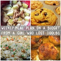 Meal plans designed from a girl who's lost 100lbs! Recipes are lightened up versions of options the whole family will love.