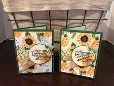 Stampin up Painted Autumn Suite. I used the Painted Harvest stamp set, Painted Autumn DSP some burlap ribbon, Garden Green cardbase with an Early Espresso layer under the DSP