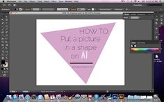 HOW TO: Put a picture in a shape using Adobe Illustrator