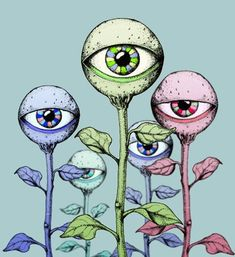 gif drawing Illustration art trippy Cool blue pink stoned roses eyeballs do drugs poison-ivy-on-drugs Art Inspo, Kunst Inspo, Inspiration Art, Art And Illustration, Trippy Drawings, Art Drawings, Drawing Art, Drawing Ideas, Psychedelic Art