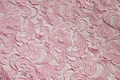 pink lace fabric hollowed embroidery classic pattern by xoxoFabric, $20.00