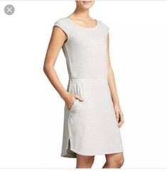 5b822b07 ATHLETA $89 Soft Stretch Redondo Casual Dress in Heather Gray Size Small  #fashion #clothing