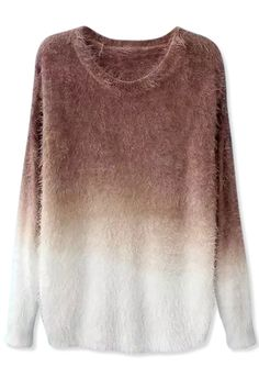 Ombre Chic Boucle Mohair Sweater