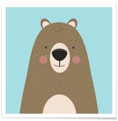 Bears Are Friendly as Premium Poster by Karin Bijlsma | JUNIQE