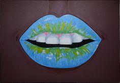 Artworks: Tropical Lips. Acrylic Paint