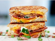 Baked Potato Grilled Cheese by BS in the Kitchen