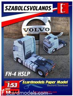 1/53 Volvo FH4 4x2 Truck Paper Model