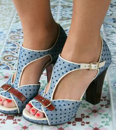 811e48365f43 Dolly Shoes ☆ Chunky Mary Janes ☆ Heels