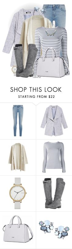 """Long Sleeve Striped T-Shirt"" by alinka-happily ❤ liked on Polyvore featuring Givenchy, Natasha Zinko, Skagen, Rocket Dog and Lydell NYC"