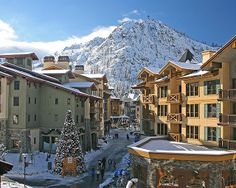 The Village at Squaw Valley. Snowboarded in Squaw Valley with my family in 2000.