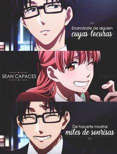 ♡ Hirotaka x Narumi ♡   Wotakoi   Frases de Anime