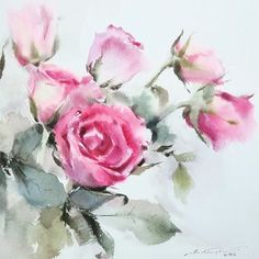 This painting will be in the auction tomorrow.  #watercolor #paint #painting #art #artist #rose #sweet #auction