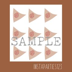 DIGITAL Moana Sailboat Cup Cake Topper Instant Download Printable Sail Polynesian Boat Hawaiian by Instaparties123 on Etsy