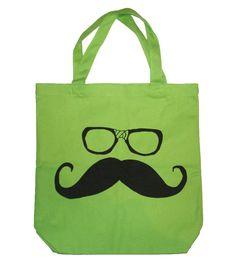 Mustache & Nerd Glasses tote ($11)
