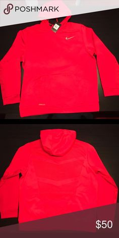 b746d8a243e4 Nike Therma Sphere Hoodie - Nike NEW Mens Therma-Sphere Pullover Hoodie  Red Black Silver Fabric  Body  Therma-FIT polyester.