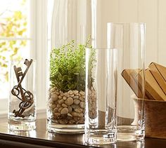 Broke mine...would love to have another one! - Aegean Clear Glass Vases #potterybarn