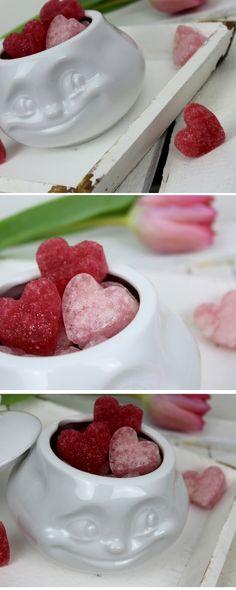 diy zuckerherzen in rosa selber machen s es geschenk zum valentinstag alle diys von. Black Bedroom Furniture Sets. Home Design Ideas