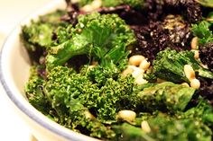 Sauteed Kale with Toasted Pine Nuts #paleo