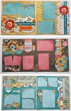 Cute, Girl & Boy layouts | Kiwi Lane Designs