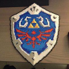 LoZ Hyrule shield perler beads  by tessaj90
