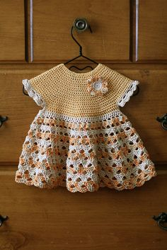 Apricots & Tangerines Frock by Yarn Theory, via Flickr