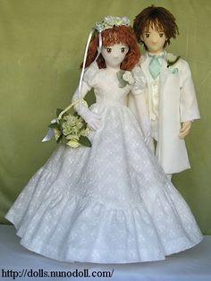 Wedding dress and frock coat