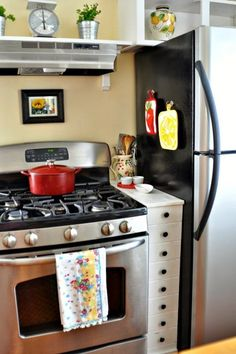 10 Projects & Products to Fill Awkward Appliance Gaps   Apartment Therapy