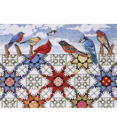 Feathered Stars Counted Cross Stitch