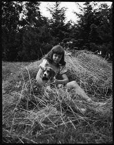 Walker Evans (American, 1903–1975). [Jill Fuller with Brenda the Beagle, Bedford, New York], June 21, 1940. The Metropolitan Museum of Art, New York. Walker Evans Archive, 1994 (1994.254.169)