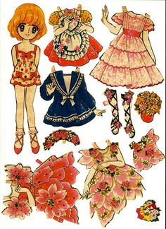 Arielle Gabriels The International Paper Doll Society Paper Art, Paper Crafts, Betty Boop, Paper Dolls Printable, Japanese Paper, Vintage Paper Dolls, Illustrations, Illustration Kids, Paper Toys