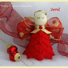 Quilted Ornament - No Sew Angel Ornament Kit to make your own beautiful Angel decoration.