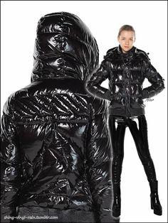 Vinyl Raincoat, Plastic Raincoat, Marina Hoermanseder, Fashion Beauty, Womens Fashion, Fashion Trends, Vinyl Clothing, Black Down, Black Milk