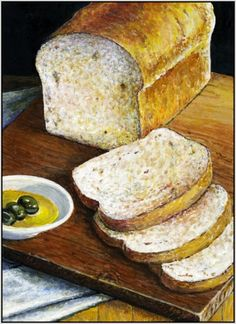 Daily Bread, painting by artist Paul Wolber