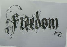 Calligraphy Types VIII