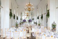 Wedding venue Holland Park, The Orangery is all is purpley & orange finest!