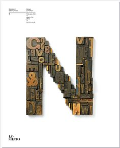 Letter N by Lo Siento for BCN:MCR Barcelona & Manchester Design Exhibition