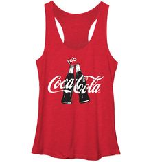Coca Cola Women's - 100 Years Bottle Clink Racerback Tank #fifthsun #cocacola #coke