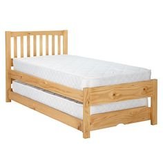 Buy John Lewis The Basics Woodstock Trundle Guest Bed Online at johnlewis.com