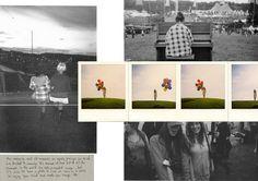 Fashion Moodboard layout with polaroids, fashion trend forecasting, fashion portfolio // Josie Easton