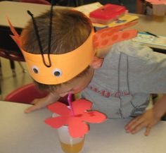 Butterfly study!  Students use straws to mimic a butterfly's proboscis!