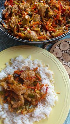 Meat Recipes, Asian Recipes, Healthy Recipes, Cooking Recipes, Ethnic Recipes, China Food, Good Food, Yummy Food, Food Hacks